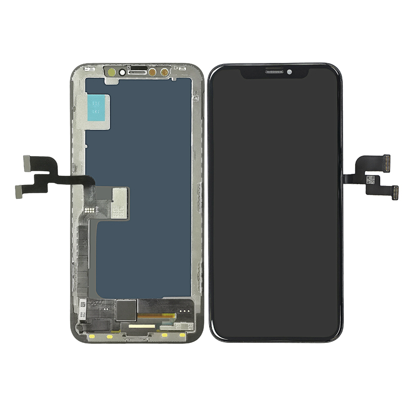 Incell LCD display+touch with frame replacement for iPhone X